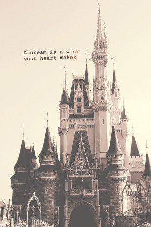 dream is a wish your heart makes when you're fast asleep. In ...