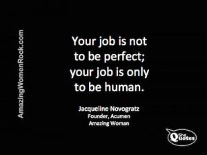 SheQuotes Jacqueline Novogratz on being human #Quote #humanity # ...