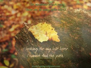 Autumn Leaves Success Quote...
