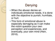 Emotional Abuse And The Effect On The Victim More