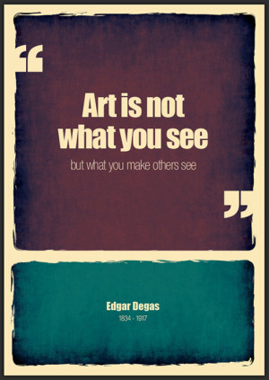 "Great quote! Cool poster design. Edgar is ""Da Guy!""weandthecolor ..."