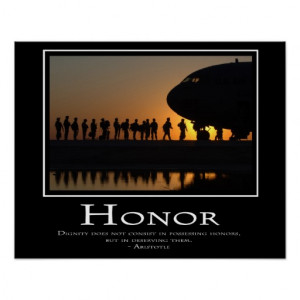 Military Quotes About Honor Honor posters