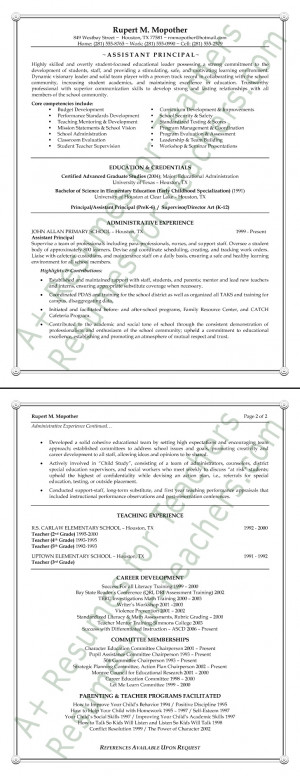 Resume Samples Educational Assistant