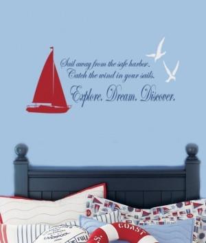 nautical quotes and sayings | Sailboat and Seagulls Nautical Vinyl ...