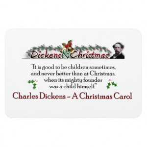 Dickens A Christmas Carol Quote Magnet