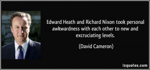 Edward Heath and Richard Nixon took personal awkwardness with each ...