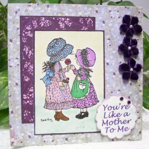 You're Like a Mother To Me - Handmade Stamped Card for Someone Special ...
