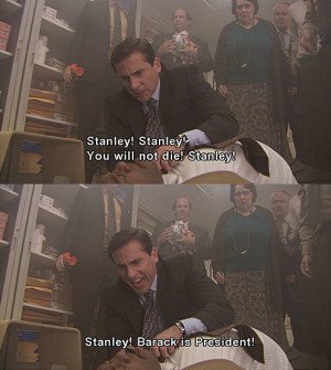 ... Attempts To Revive Stanley With Barack Obama Spells On The Office