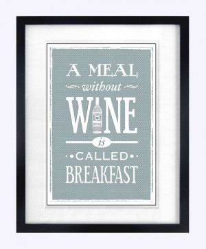 ... Shabby Chic Decor, Kitchen Poster, Quote Print, Kitchen Art, A Meal