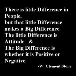 Little Difference In People Atitude
