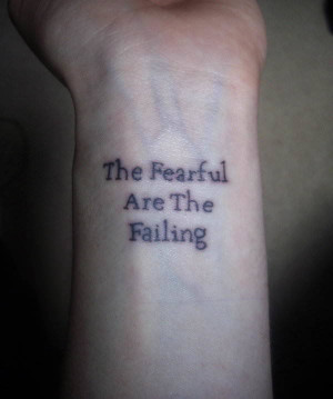 Powerful Quotes become Powerful Tattoos