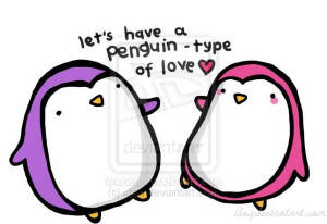 penguin love by idog