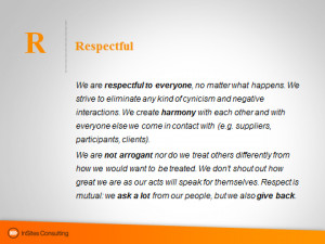 Living our values: respectful [6/7]