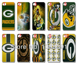 Spedizione gratuita per iphone 5 5s caso verde bay packers NFL 10pcs ...