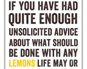 When Life Gives You Lemons Kitchen Art - Typographic Print, Lemon ...