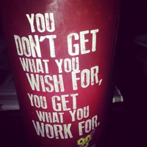Inspirational quote printed on energy drink