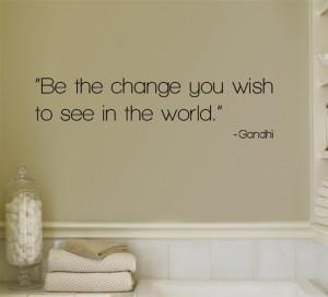 Change - Gandhi Wall Decal at Art.com