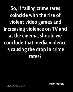 So, if falling crime rates coincide with the rise of violent video ...