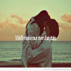 love cute sweet couple beach sunset fairytale true kiss kissing Quotes