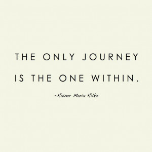 Becoming blog : the journey within quote Rilke quote