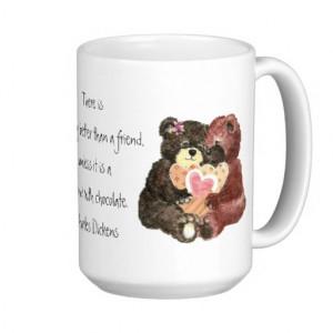 cute_teddy_bears_friends_chocolate_quote_mugs ...