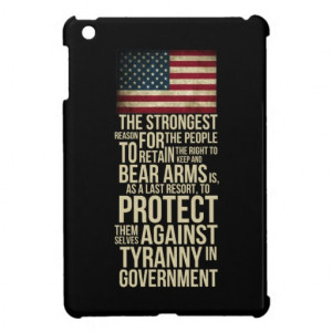 Right To Bear Arms - Thomas Jefferson Quote Cover For The iPad Mini