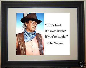 John-Wayne-The-Duke-Western-harder-if-Quote-Framed-Photo-Picture-nd1