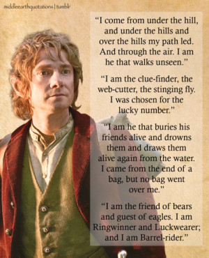 Bilbo to Smaug the Dragon, The Hobbit, Inside Information ('The ...