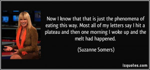 Now I know that that is just the phenomena of eating this way. Most ...