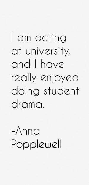 am acting at university and I have really enjoyed doing student drama
