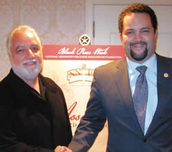 ... , Danny Bakewell (left) and NAACP President,CEO Benjamin Todd Jealous