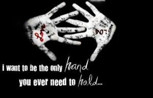 Most popular tags for this image include: hand, lovers and quote