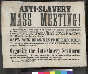 an abolitionist meeting supporting John Brown in 1859.Civil ...