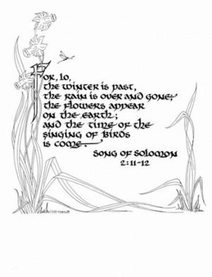 ... , Song Of Solomon, Songs Hye-Kyo, Solomon 2 11 12, Songs Of Solomon