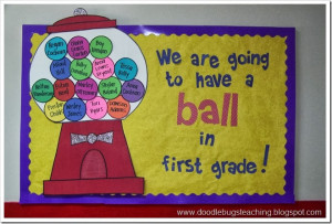 We are going to have a ball in first grade!""