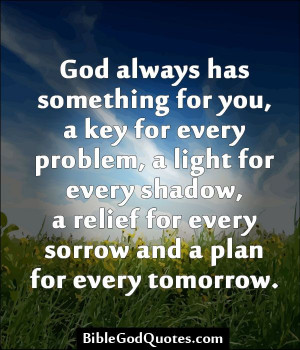 God always has great things to give you. Never give up! Today is a new ...