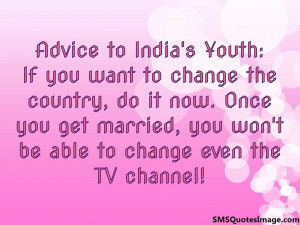 Advice to India's Youth: