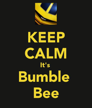 KEEP CALM It's Bumble Bee