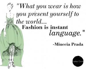 Fashion Quote- Miuccia Prada
