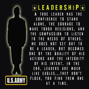 "Army ""Leadership"" Poster (ARMYV58)"
