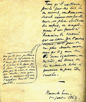 This is the orignal piece of manuscript from Les Miserables