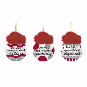 Ohio State Buckeyes Team Sayings Tree Ornaments