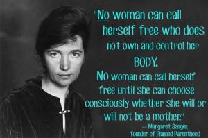 Margaret Sanger Quotes On Birth Control
