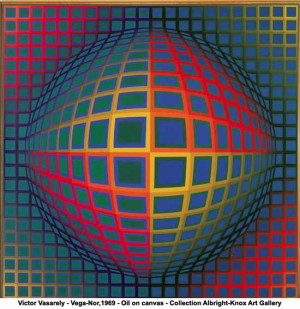Victor Vasarely - Vega-Nor,1969 - Oil on canvas - Collection Albright ...