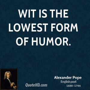 Alexander Pope Humor Quotes