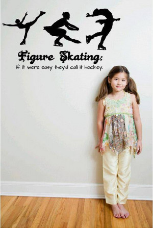 Details about Figure Skating Wall Decal | Hockey Girl's Room Decor ...