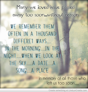 Memory Of Lost Loved Ones Quotes : Quotes About Loved Ones Passed. QuotesGram