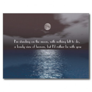 Romantic Night Sea Sky Moonlight Missing You Post Cards