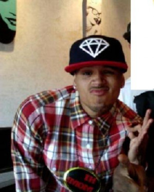 ... wearing a Diamond (Jewel Programming) hat with checkered shirt and 666