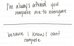 insecure, love, quote, quotes, realatable quote, relatable